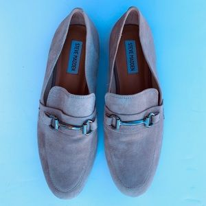 Steve Madden Loafers Shoes Tan Beige Suede